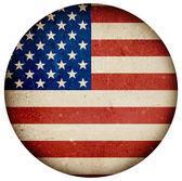 Grunge flag isolated on white — Stock Photo