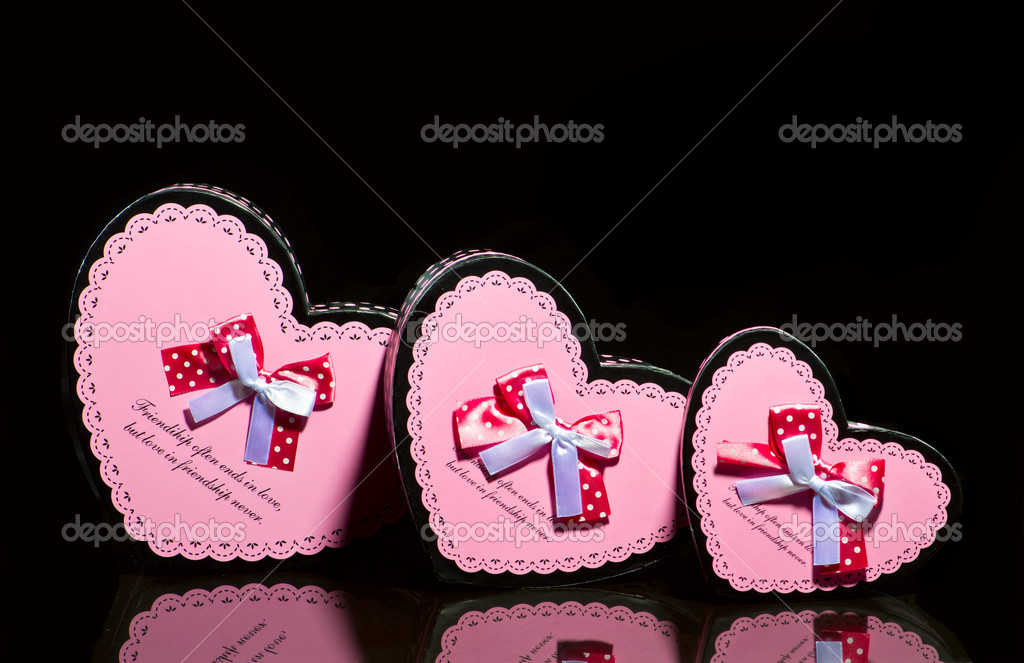 Gift boxes on black background — Stock Photo #11151636