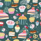 Texture of cakes — Stock Vector