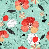 Autumn flower texture — Stock Vector