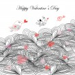Greeting card for Valentine's Day - Imagen vectorial