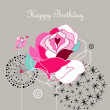 Royalty-Free Stock Imagen vectorial: Greeting card with a rose