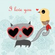 Cat lover — Image vectorielle