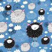 Texture of the sheep — Stock Vector