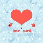 Biglietto di auguri con il cuore — Vettoriale Stock