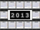 A calendar on 2013 is Russian on a film — Stock Photo