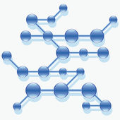 Structure of abstract molecule. — 图库矢量图片