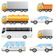 Stock Vector: Set of vehicles.