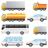 Set of vehicles. — Stock Vector