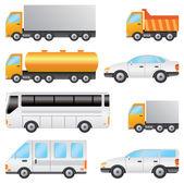 Set of vehicles. — Stock Vector