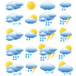 Meteorology set. — Stock Vector