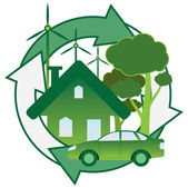 Green energy. — Stock Vector