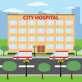 City hospital. — Stock Vector