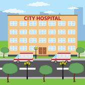 City hospital. — Stock Vector