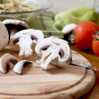 Sliced mushrooms — Stock Photo