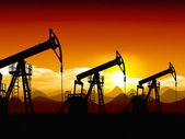 Oil field — Stock Photo