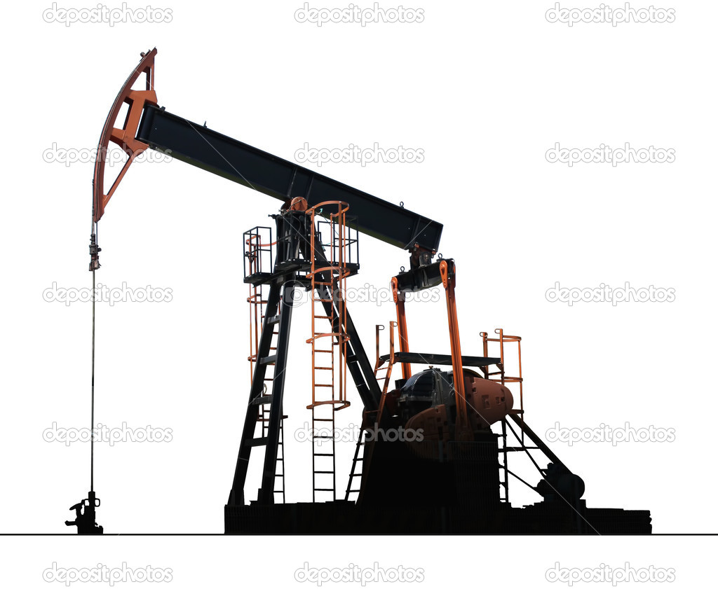 Isolated oil well pump  Stock Photo #11337513