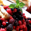 Stock Photo: Fresh berries with pancakes