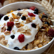 Muesli with yogurt,healthy breakfast rich in fiber — Stock Photo #11945841