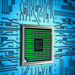 Stock Photo: Abstract processor