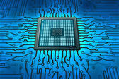 Motherboard with microchip — Stock Photo
