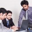 Three businessmen in a meeting — Stock Photo