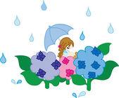 Rain day — Stock Vector