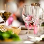 Empty glasses set in restaurant — Stock Photo #11140705