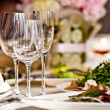 Empty glasses set in restaurant — Stock Photo #11140715
