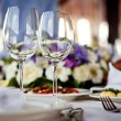 Empty glasses set in restaurant — Stock Photo #11587931