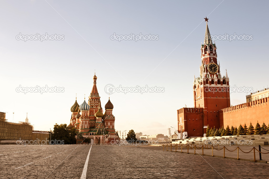 Red Square in Moscow at early morning  Stock Photo #11655969