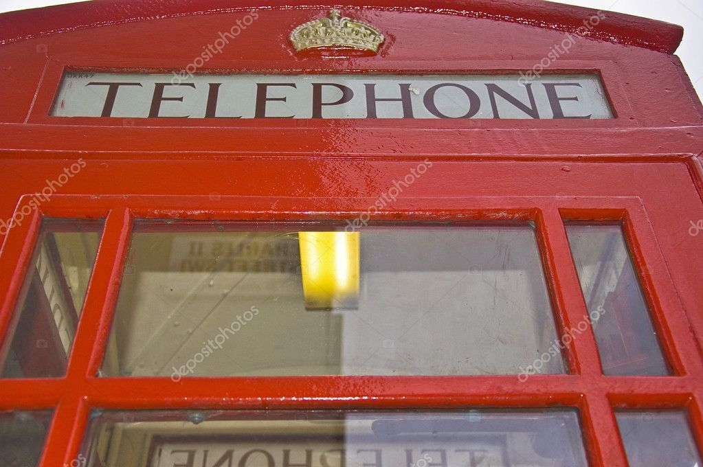 Typical booth telephon in London, Uk — Stock Photo #11018668