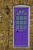 Purple door — Stock Photo