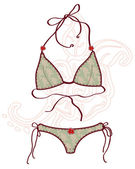 Women bathing suits. Vector illustration — Stock Vector