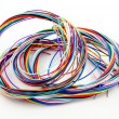 A bunch of colourful cables — Stock Photo