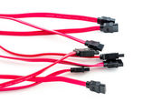 Several SATA cables — Stock Photo