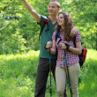 Experience during a hike — Stock Photo