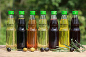 Different types of cooking oil — Stock Photo