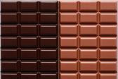ミルク チョコレート、ダーク チョコレート — ストック写真