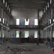 Stock Photo: Inside factory ruin