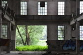 Inside factory ruin — Stock Photo