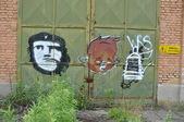 Che guevara graffiti — Stock Photo