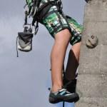 Sport climbing a wall — Stock Photo