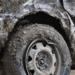 Mud covered car at race for survival — Stock Photo #12416699