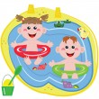 Swimmer funny boy and girl — Stock Photo