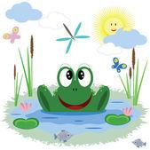 Funny frog — Stock Photo