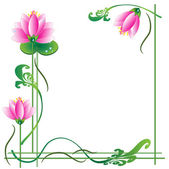 Frame with lotuses — Stock Photo