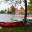 Trakai Castle most visited tourist place Lithuania — Stock Photo