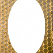 Isolated white oval  honeycomb mesh background - Stock Photo