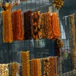Stock Photo: Beads other handcraft jewelry made of stone amber